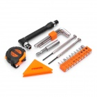 PICASSO PS-J001 21-in-1 Screwdriver + Hex Wrench + Tape + Leveler Tools Kit