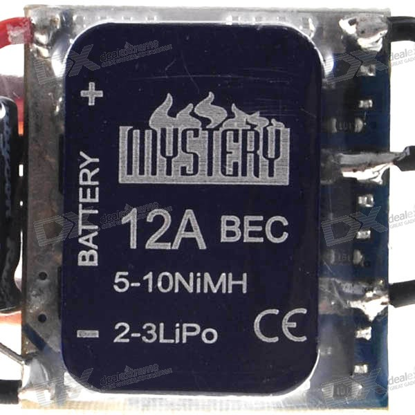 Mystery BEC ESC for Brushless Motors (2607-12A 5-10 NC\2-3Lipo)
