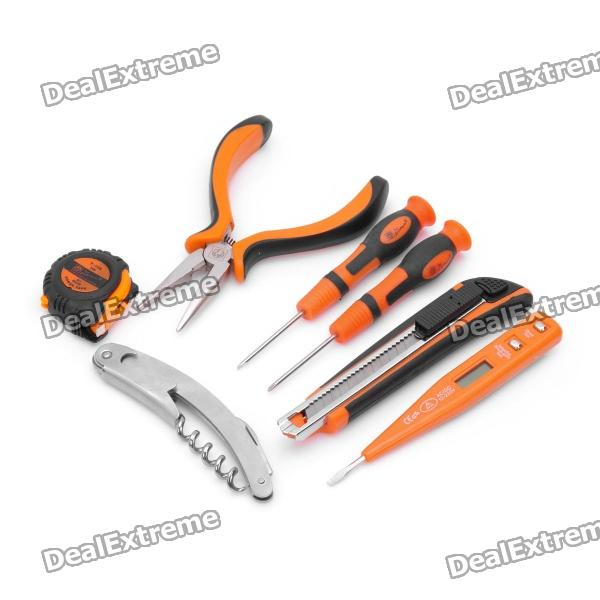 PICASSO PS-E001 8-in-1 Voltage Tester + Knife + Pliers + Screwdrivers + Tape Tools Kit picasso ps g002 9 in 1 hammer screwdrivers voltage tester knife tape pliers tools kit