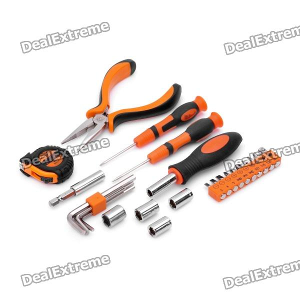PICASSO PS-E003 25-in-1 Screwdrivers + Tape + Pliers Tools Kit picasso ps g002 9 in 1 hammer screwdrivers voltage tester knife tape pliers tools kit