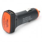 RIVEMAN USB Car Charger w/ Adapters for Cell Phone + More - Black (DC 12~24V)