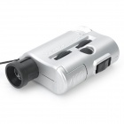 Mini 30X/60X Pocket Focus Zoom Lens UV Light Microscope Loupe Magnifier (3 x LR43)