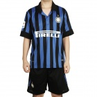 Inter Milan Football Team Home Jersey Shirt & Shorts Set - Blue + Black (Size M)