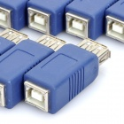 USB A-Type Female to USB B-Type Female Converters Adapters - Blue (10-Pack)