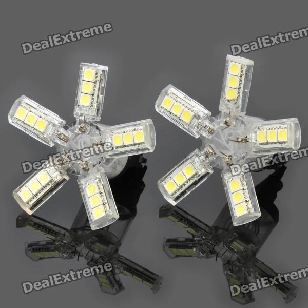 3157 20x5050 SMD LED 260~280LM 6000~6500K Car White Light Bulbs (Pair) carprie super drop ship new 2 x canbus error free white t10 5 smd 5050 w5w 194 16 interior led bulbs mar713