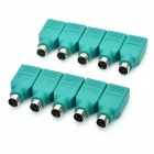 USB Female to PS Male Convertor Plug - Green (10-Piece)