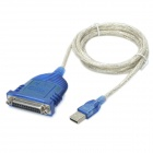 POWERSYNC USB 2.0 Male to 25-Pin D-SUB Female Cable - Blue (180cm)