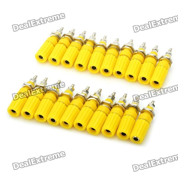 DIY Binding Post Terminals - Yellow (20-Piece Pack) diy audio speaker binding post terminal blue 20 piece pack