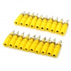 DIY Binding Post Terminals - Yellow (20-Piece Pack)