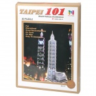 Intellectual Development DIY 3D Paper Puzzle Set - Taipei 101 (68-Piece)