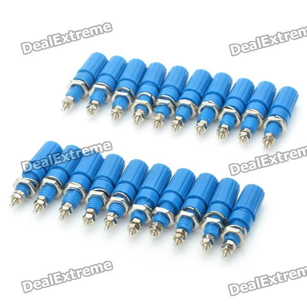 DIY Audio Speaker Binding Post Terminal - Blue (20-Piece Pack) diy audio speaker binding post terminal blue 20 piece pack
