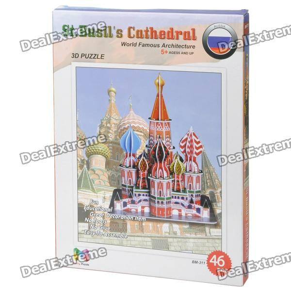 Intellectual Development DIY 3D Paper Puzzle Set - St. Basil's Cathedral (46-Piece)