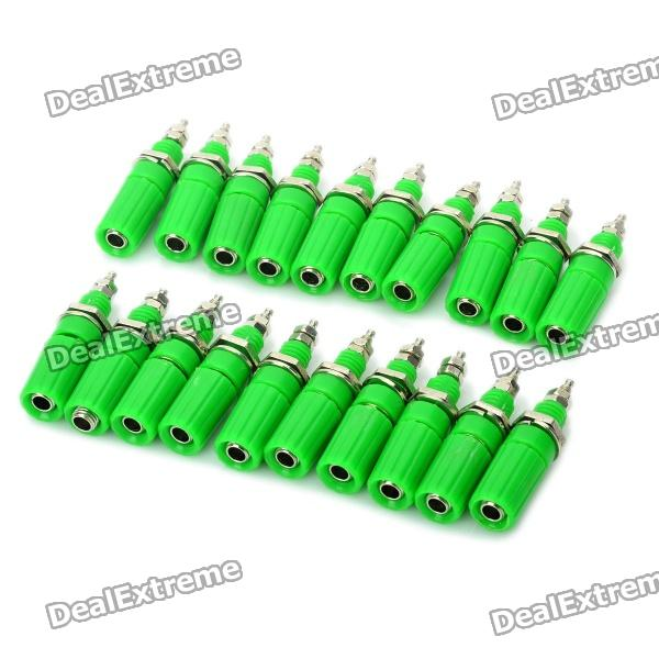 DIY Binding Post Terminals - Green (20-Piece Pack) diy audio speaker binding post terminal blue 20 piece pack