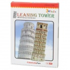 Intellectual Development DIY 3D Paper Puzzle Set - Leaning Tower of Pisa (13-Piece)