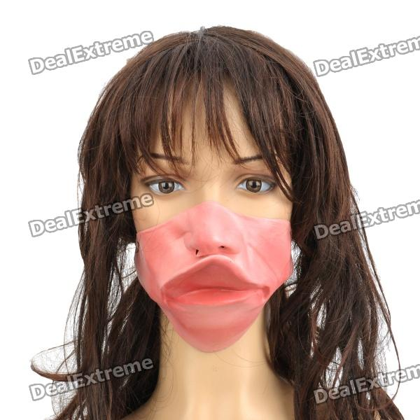 Scary Large Upper Lip Face Mask for Halloween Costume / Cosplay - Pink