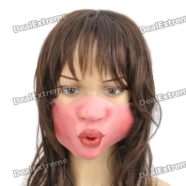 Scary Half Kissing Face for Halloween Costume / Cosplay - Pink