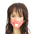 Scary Half Rabbit Teeth Face for Halloween Costume / Cosplay - Pink