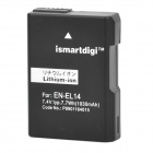 Genuine iSmart Digi Replacement 7.1V 1030mAh EN-EL14 Digital Battery Pack for Nikon CoolPix P7000