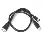 eSATA Female to eSATA Male + USB Male Data Cable for HDD / Optical Drive - Black (50cm)