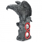 Cool Eagle Statue Style Rechargeable MP3 Player Speaker w/ FM / USB / SD Slot - Black