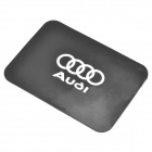 Silicone Vehicle Anti-Slip Mat with Audi Logo - Black + White