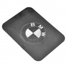 Silicone Vehicle Anti-Slip Mat with BMW Logo - Black + White