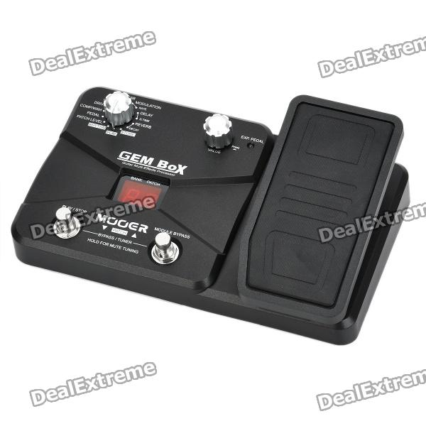 Genuine MOOER GEM Box LE 1.1 LED Guitar Multi-Effects Processor w/ Expression Pedal - Black