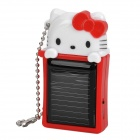 Hello Kitty Style Solar Powered Emergency Mobile Power for iPhone / iPod - Red