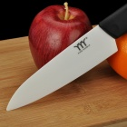 "6"" Chic Chefs Horizontal Ceramic Fruit Knife - Black + White (14.2cm-Blade)"