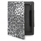Protective PU Leather Case for the New Ipad - Black Leopard