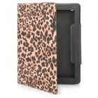 Protective PU Leather Case for the New iPad - Brown Leopard