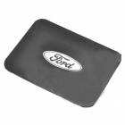 Silicone Vehicle Anti-Slip Mat with Ford Logo - Black + White