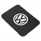 Silicone Vehicle Anti-Slip Mat with Volkswagen Logo - Black + White