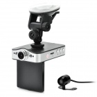 "2.4"" 5MP CMOS HD 720P Car DVR with Night Vision/Motion Detection/G-sensor(Black) + Rearview Camera"