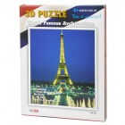 Intellectual Development DIY 3D Paper Puzzle Set - Eiffel Tower (35-Piece)