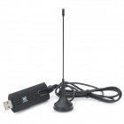 USB 2.0 DVB-T TV Dongle w/ Remote Control - Black