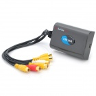 4-Channel Real-Time USB DVR Video Capture / Surveillance Dongle - Black (PAL / NTSC)