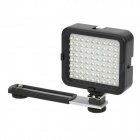 4.3W 160LM White 72-LED Video Light Lamp w/ Stand & Lens Filter for Digital Camera - Black (5xAA)