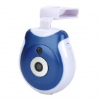 Rechargeable 300KP Digital Pet Eye View Camera with Clip for Dog / Cat & More - Blue + White (128MB)