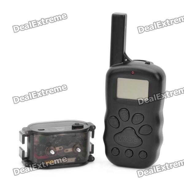 1.3 LCD Remote Pet Training Collar - Black jf032 2 3 5 lcd 4 mode electronic shock vibration remote control pet bark stop training collar set