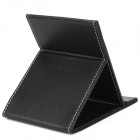 Folding PU Leather Cover Cosmetic Mirror - Black