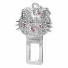 Safety Imitation Diamond Hello Kitty Style Seat Belt Buckle with Subtle Fragrance - Silver + Pink