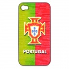 UEFA Euro 2012 National Football Team Badge Protective ABS Back Case for iPhone 4 / 4S - Portugal