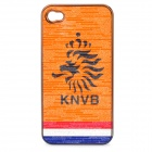 UEFA Euro 2012 National Football Team Badge Protective ABS Back Case for iPhone 4 / 4S - Netherlands