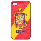UEFA Euro 2012 National Football Team Badge Protective ABS Back Case for iPhone 4 / 4S - Spain