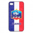 UEFA Euro 2012 National Football Team Badge Protective ABS Back Case for iPhone 4 / 4S - France