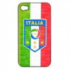 UEFA Euro 2012 National Football Team Badge Protective ABS Back Case for iPhone 4 / 4S - Italy