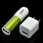 AC Adapter Charger + Car Charger + USB Cable for iPhone - White