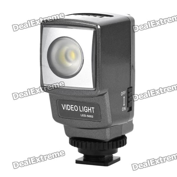 Rechargeable 3.5W 160LM 6500K White LED Video Light for Sony Digital Camera DSLR - Silver Grey