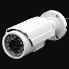 1/3 CCD Water-Resistive Surveillance Security Camera with 24-LED Night Vision - White (DC 12V)